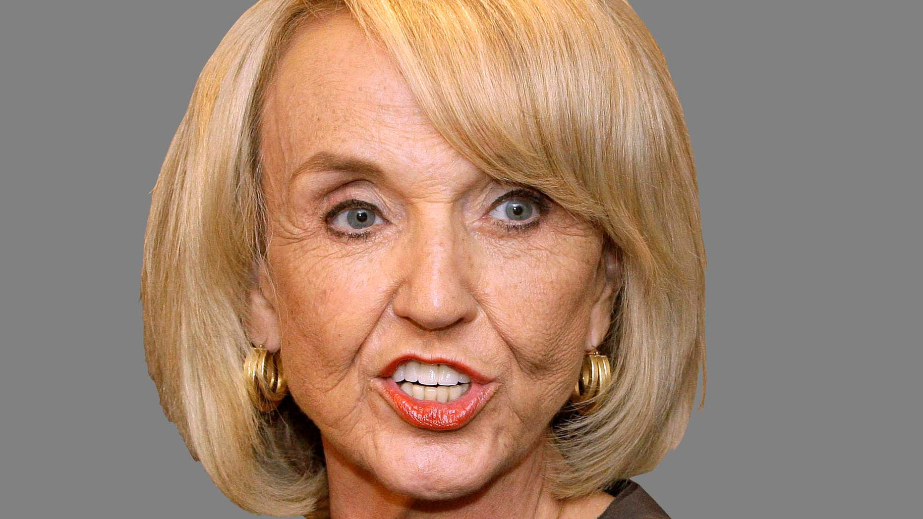 Arizona Gov. Jan Brewer, after meeting with Obama Administration officials regarding the border, immigration, and National Guard troop deployment, talks about the meeting at the capitol Monday, June 28, 2010, in Phoenix. The officials told the governor that 524 of the 1,200 National Guard troops headed to the U.S. Mexican border will be deployed in the state. (AP Photo/Ross D. Franklin)