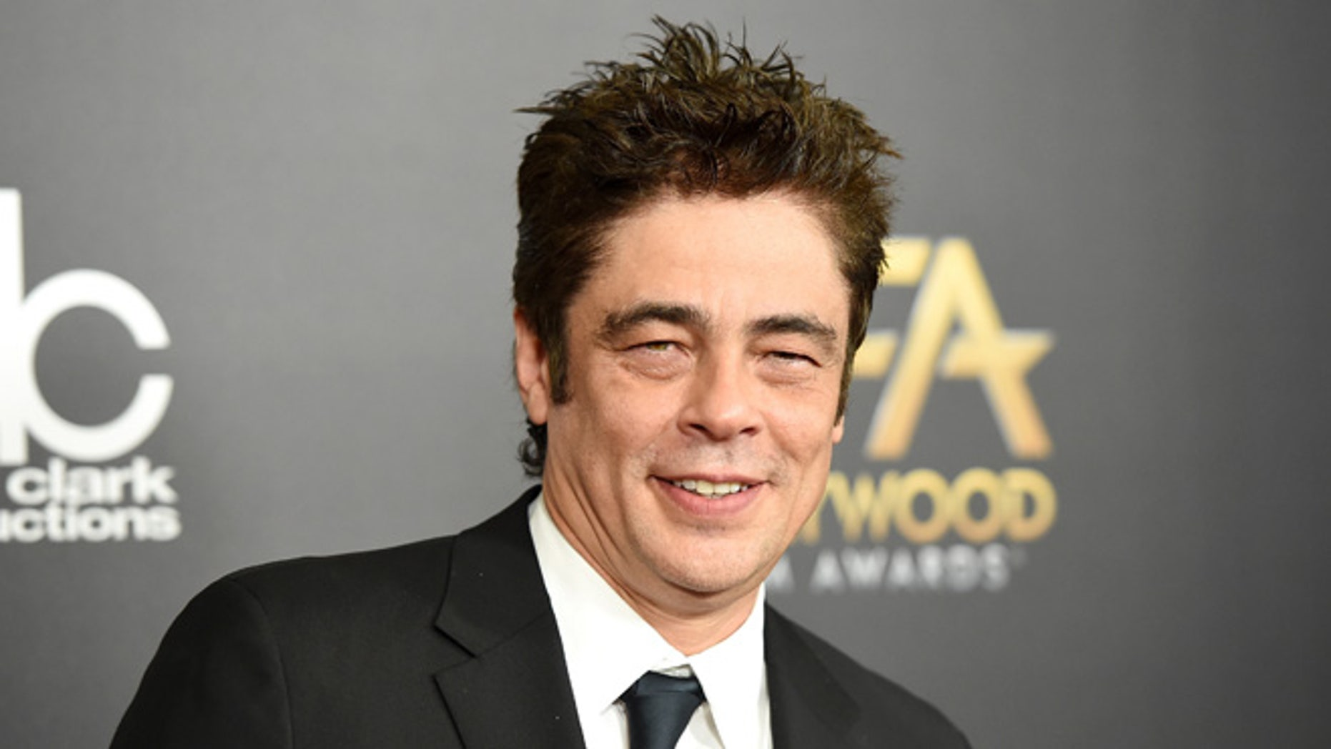 BEVERLY HILLS, CA - NOVEMBER 01:  Actor Benicio del Toro attends the 19th Annual Hollywood Film Awards at The Beverly Hilton Hotel on November 1, 2015 in Beverly Hills, California.  (Photo by Jason Merritt/Getty Images)