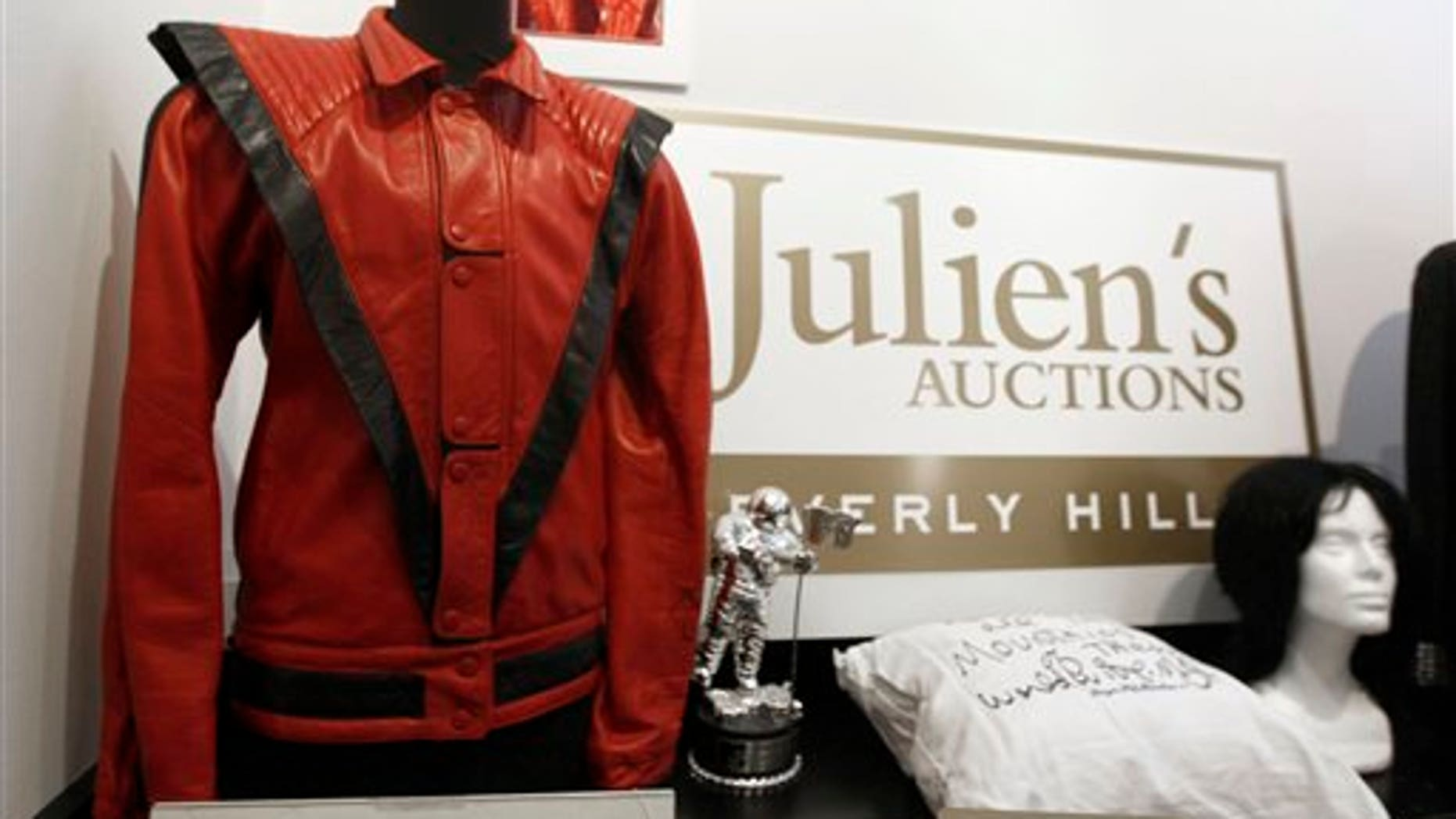 Michael Jackson's iconic 'Thriller' jacket is up for auction. (AP)