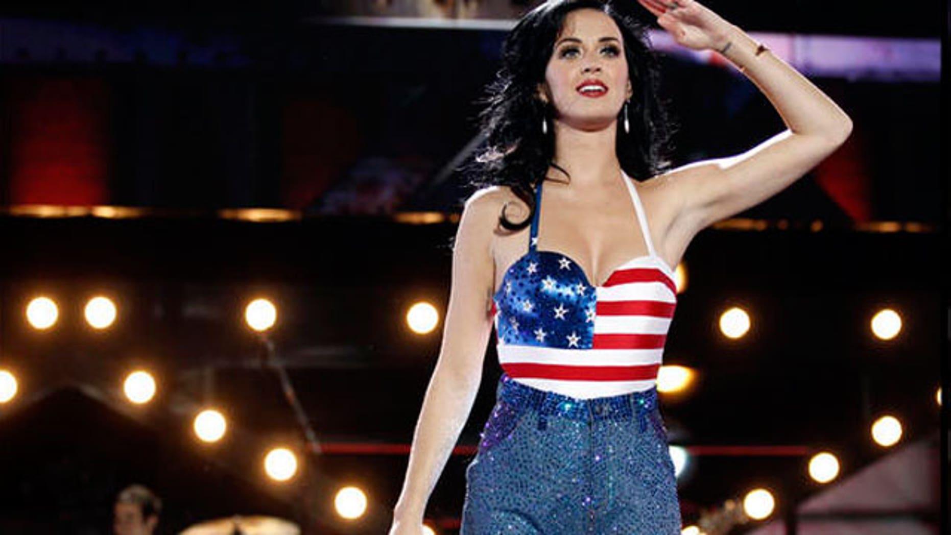 Katy Perry performs (AP).