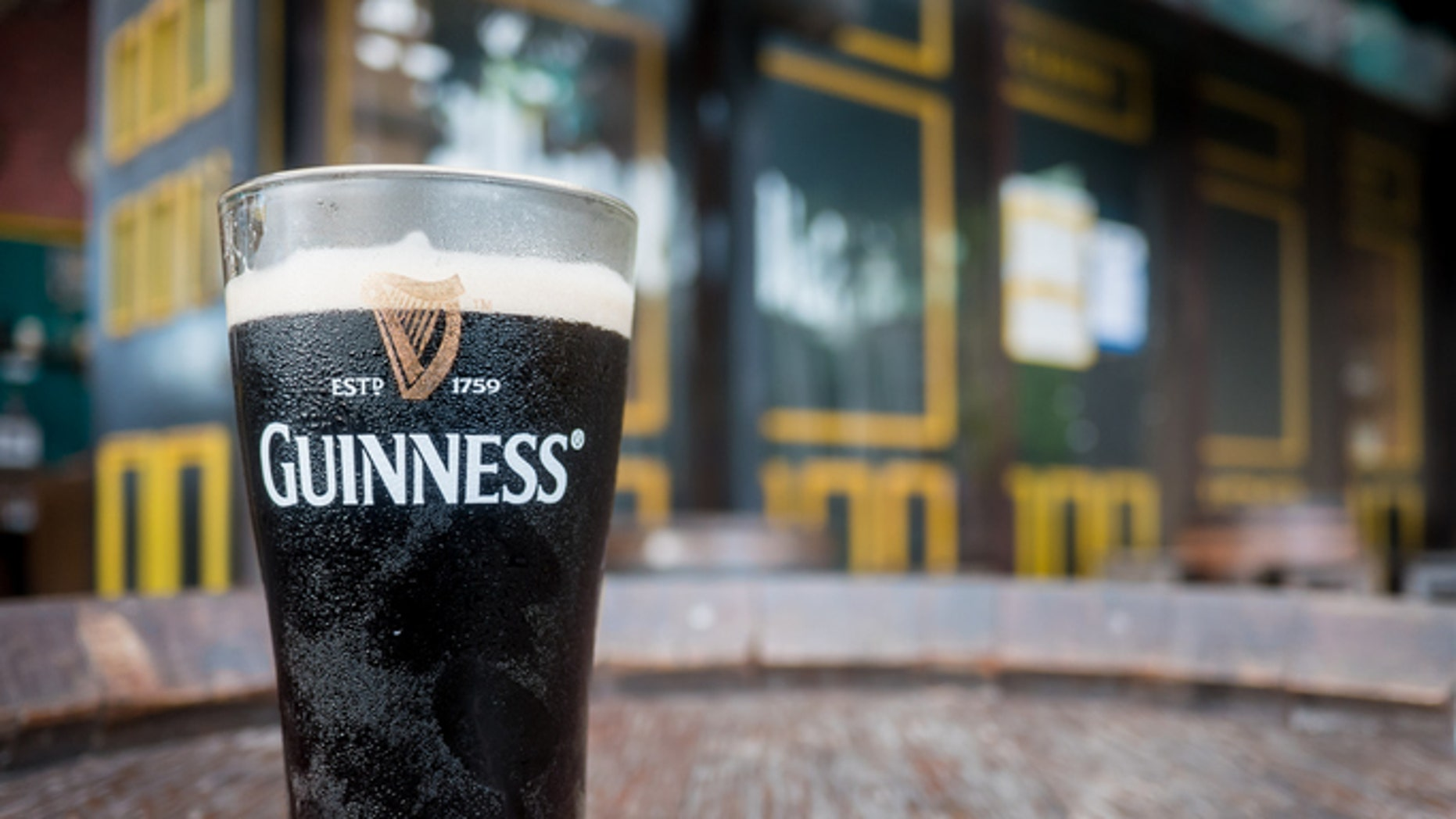 Pattaya, Thailand - September 18, 2016: Thailand, Pattaya : Pint of beer served at Guinness Brewery on September 18, 2016 in Pattaya.