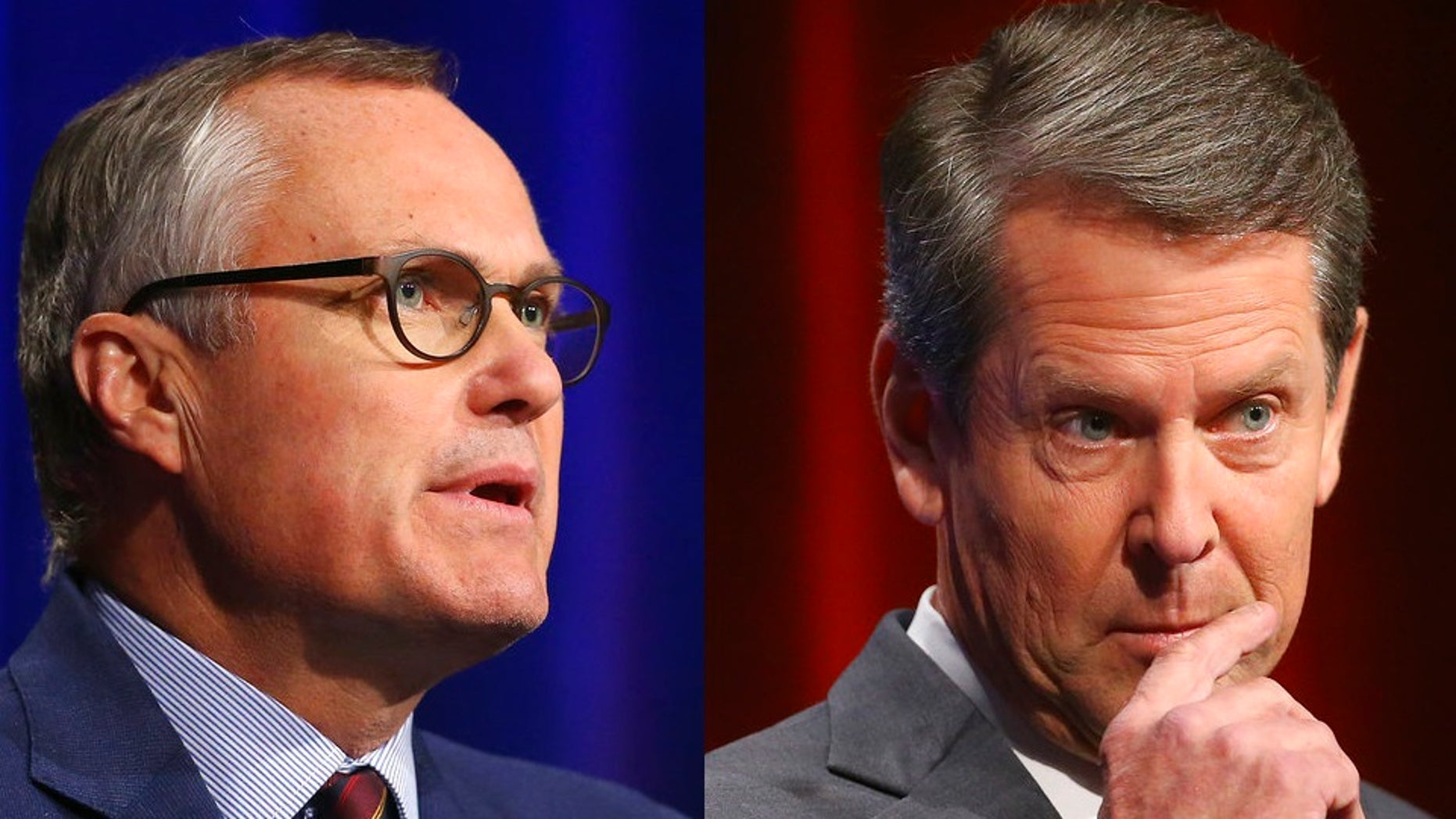 Republican candidates for Georgia Governor Georgia Lt. Gov. Casey Cagle, left, and Secretary of State Brian Kemp are locked in a bruising primary battle for the state's governorship.