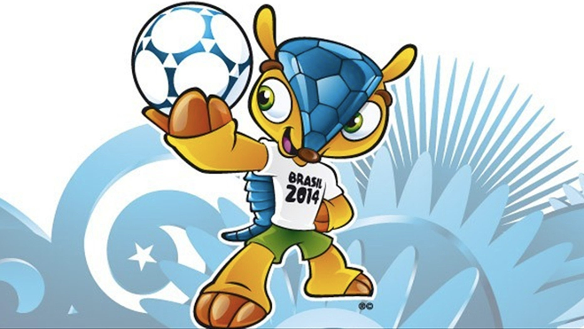 This image posted on the FIFA website Sunday Sept. 16, 2012 shows the mascot of the 2014 World Cup. (AP Photo/FIFA)