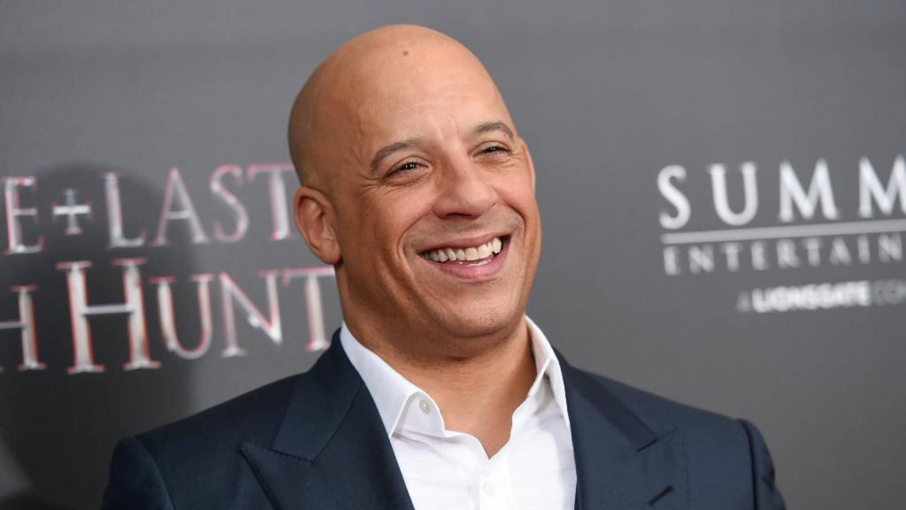Vin Diesel at a premiere in New York.