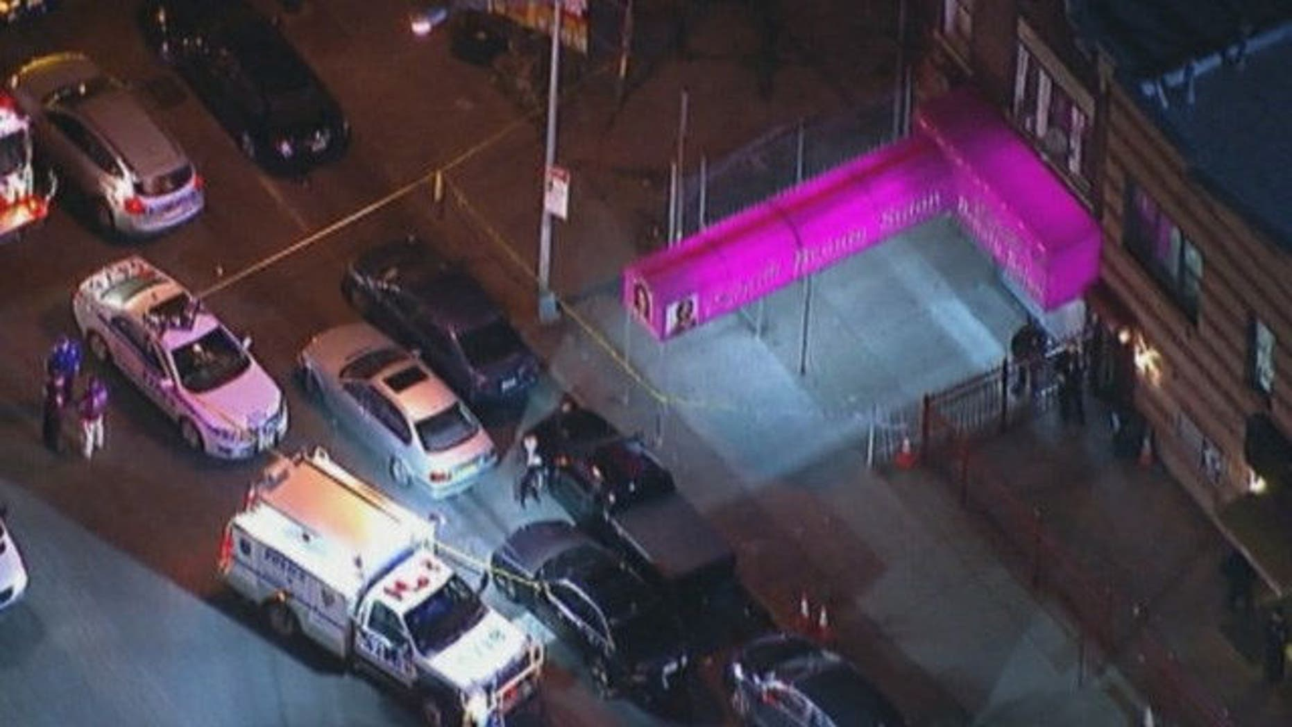 April 27, 2015: Emergency personnel respond to a shooting outside a Brooklyn, N.Y. church that killed at least 2 people and injured 4 others. (MyFoxNY.com)