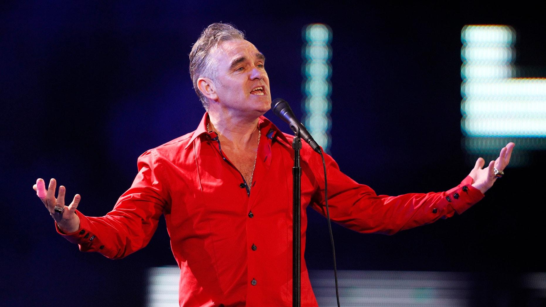 British singer-songwriter Morrissey performs during the International Song Festival in Vina del Mar city, February 24, 2012.