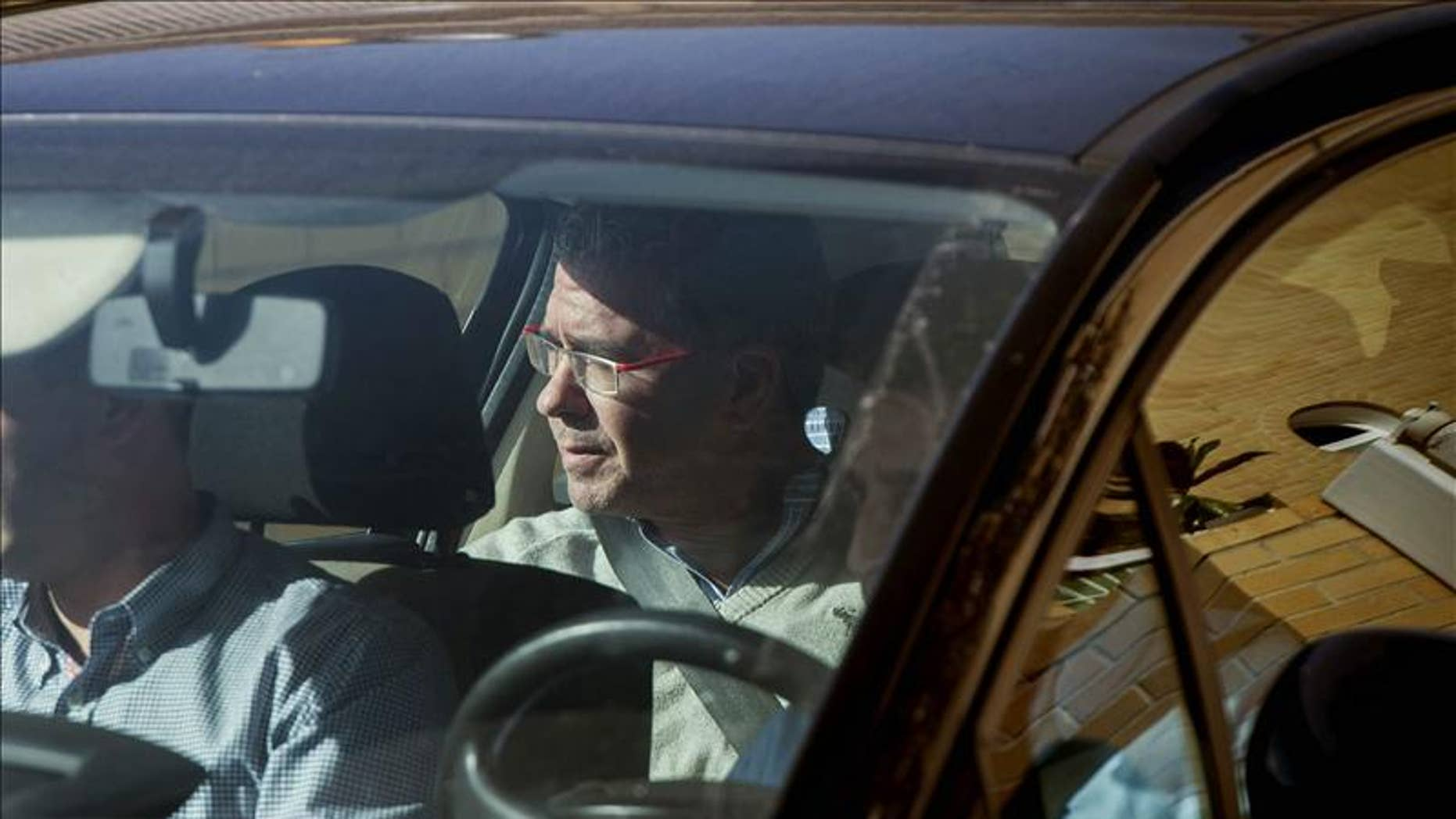 Former Mayor of Valdemoro and former regional vice president of Madrid, Francisco Granados, after his arrest on Oct. 27 2014.