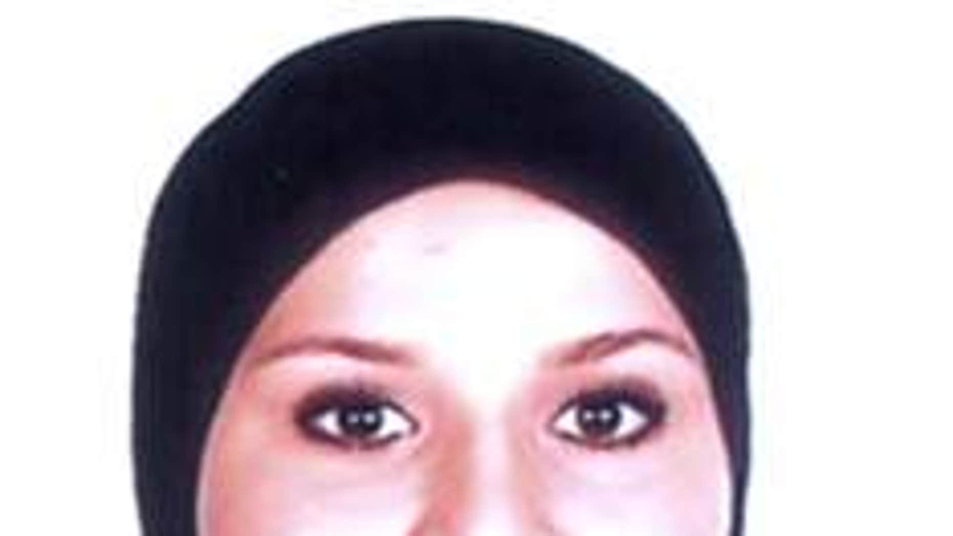 A photo of Fauzia Allal Mohamed, 19, one of the two teenage girls detained in Spain on suspicion of attempting to the join the Islamic State.
