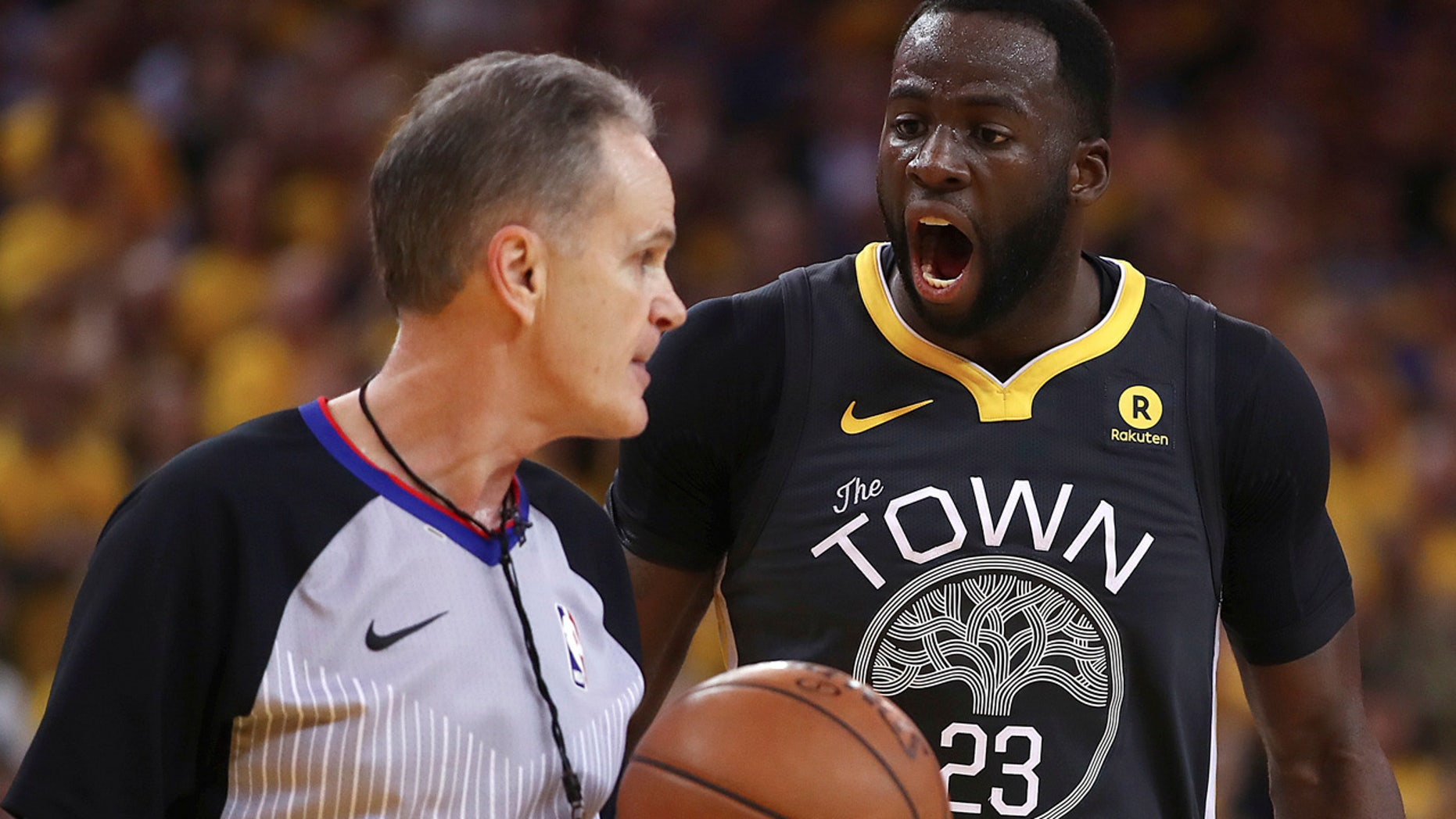 May 1: Golden State Warriors' Draymond Green says he feels sad for anyone who threatens violence over a basketball game and prays they get the help they need.