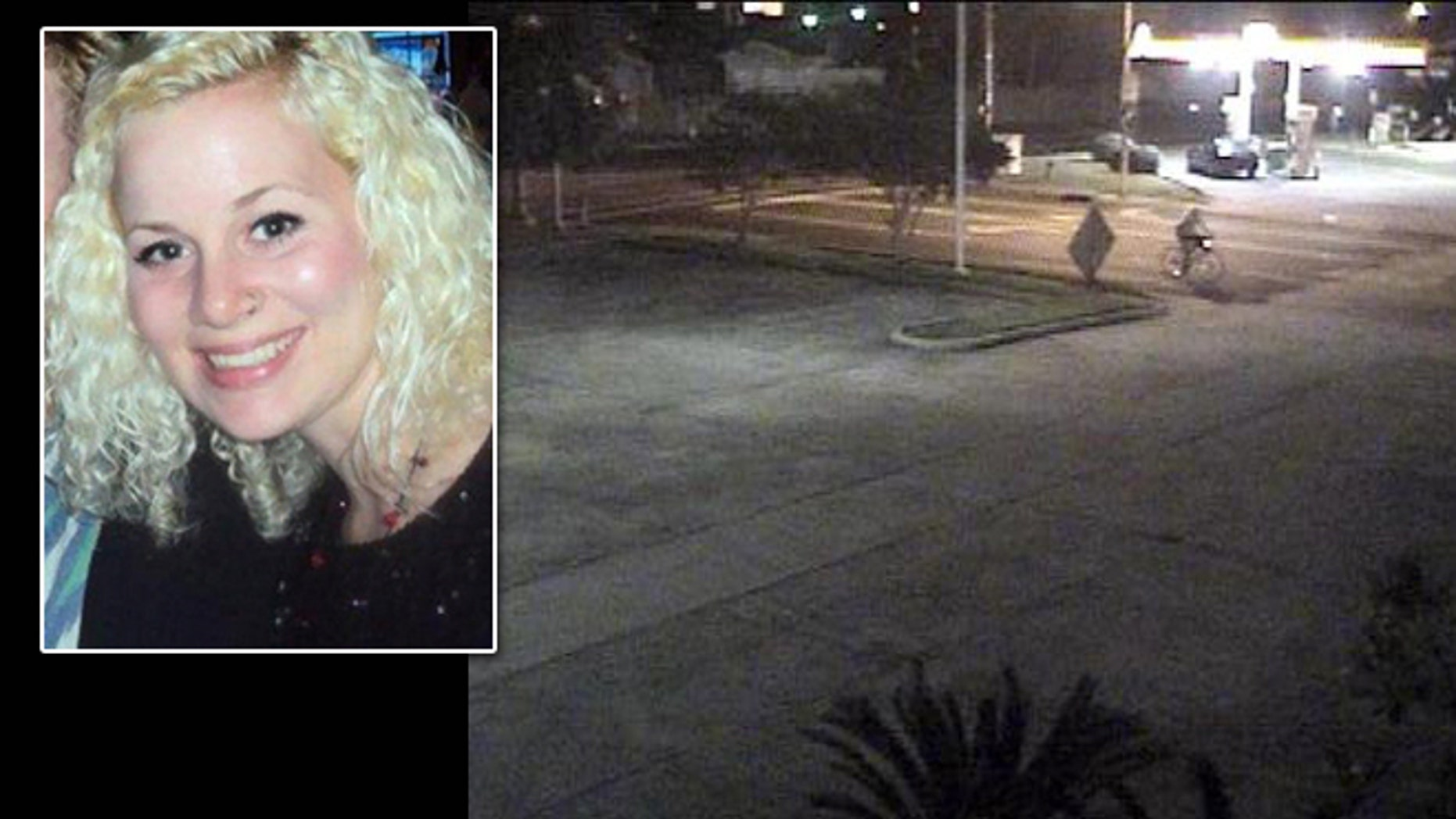 Louisiana college student Michaela Shunick, who disappeared May 19, is thought to be the bicyclist seen on this surveillance video.