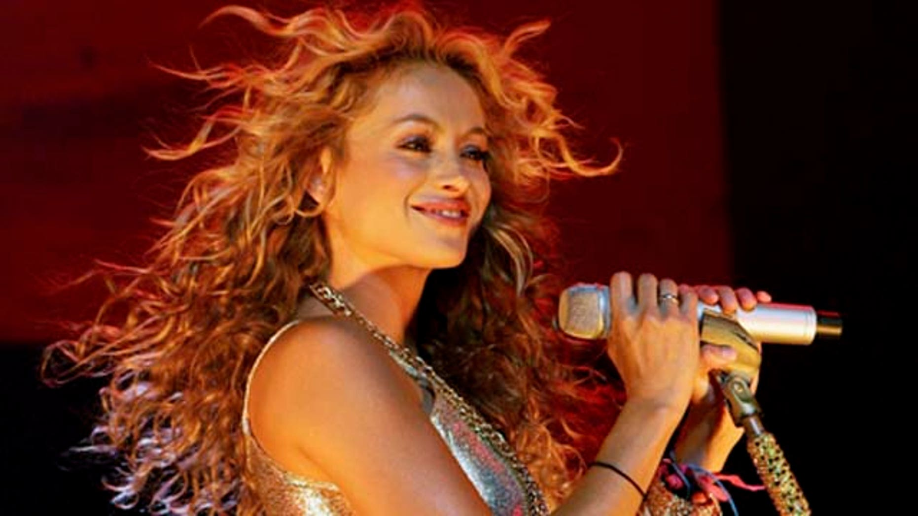 June 29. 2007: Singer Paulina Rubio performs at the Pearl concert theater at the Palms Casino Resort in Las Vegas, Nevada. Rubio's father Enrique Rubio currently is in critical condition in a Mexican hospital.