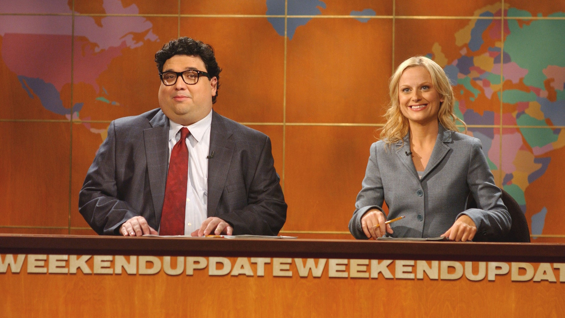Amy Poehler and Horatio Sanz in an October 2005 file photo.