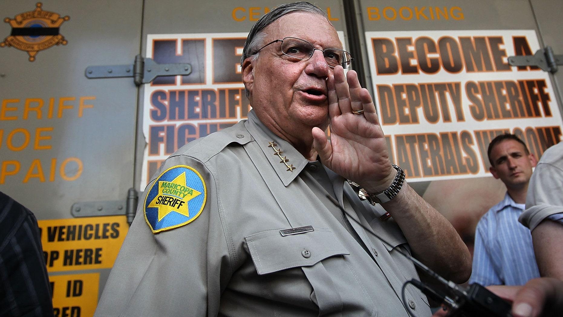 Maricopa County Sheriff Joe Arpaio in a 2010 file photo.