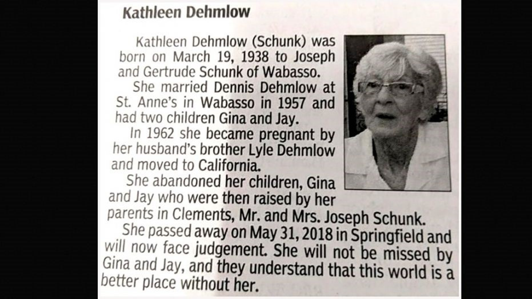 A seemingly normal obituary took a dark turn and has now gone viral.
