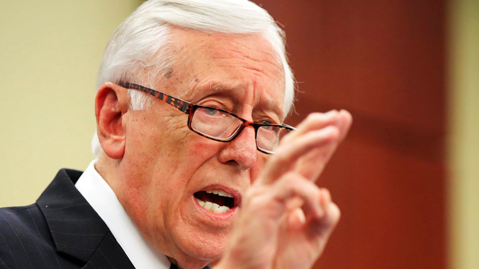 "Hoyer warned last month that impeachment would take Democrats' ""eye off the ball."""