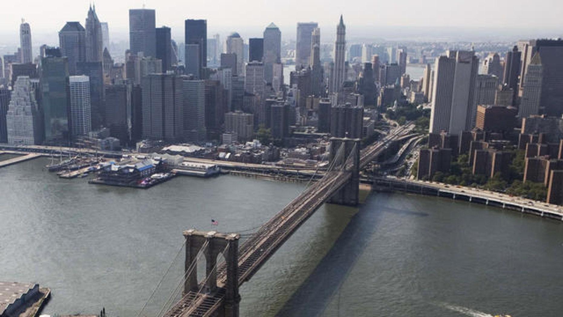 Shown here is the Brooklyn Bridge.