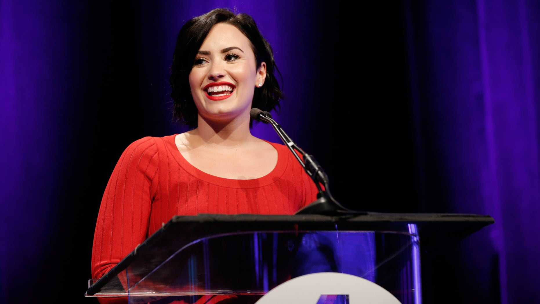 Lovato at the 2nd Annual unite4:humanity on February 19, 2015 in Los Angeles, California.