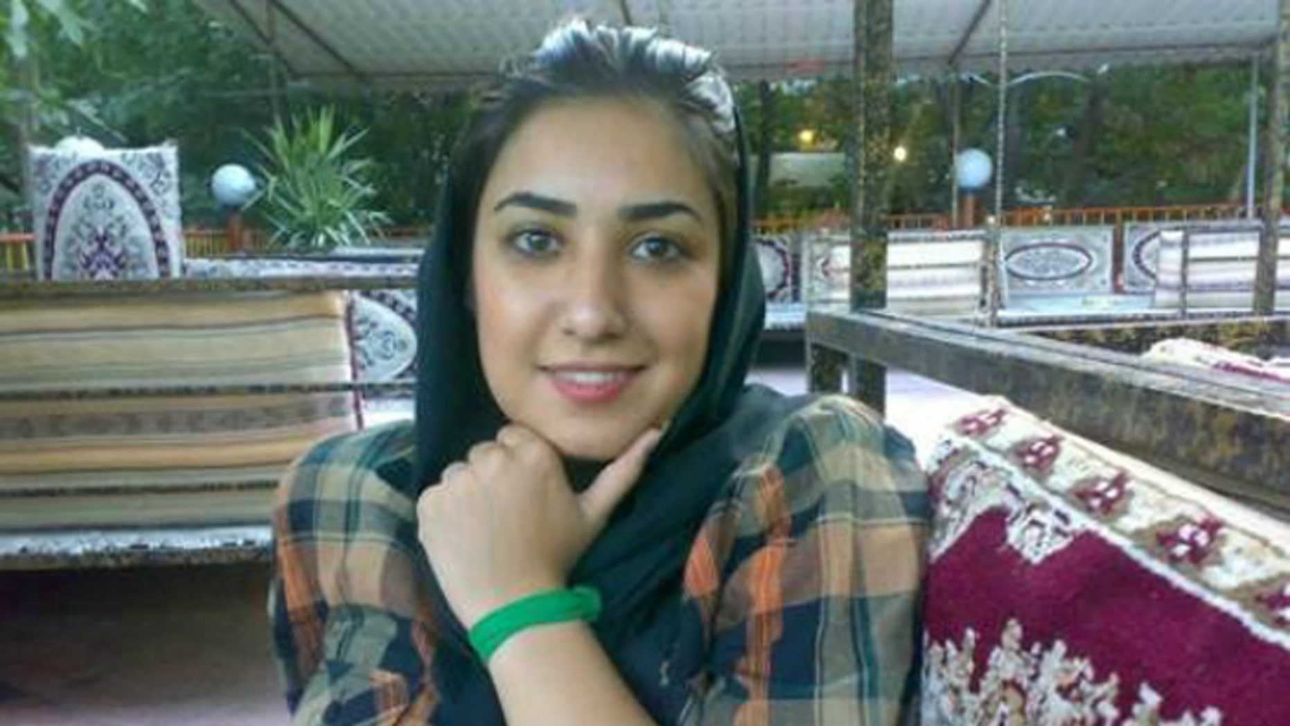 Atena Farghadani is facing a dozen years behind bars for drawing cartoons. (Justice for Iran)