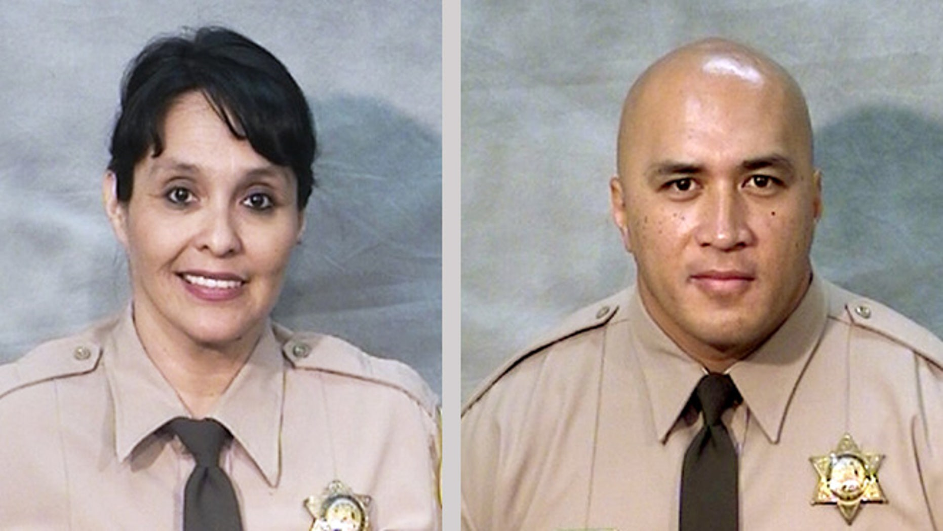 There are undated photos provided by the Fresno County Sheriff's Office shows corrections officers Juanita Davila and Toamalama Scanlan. (Fresno County Sheriff's Office via AP)