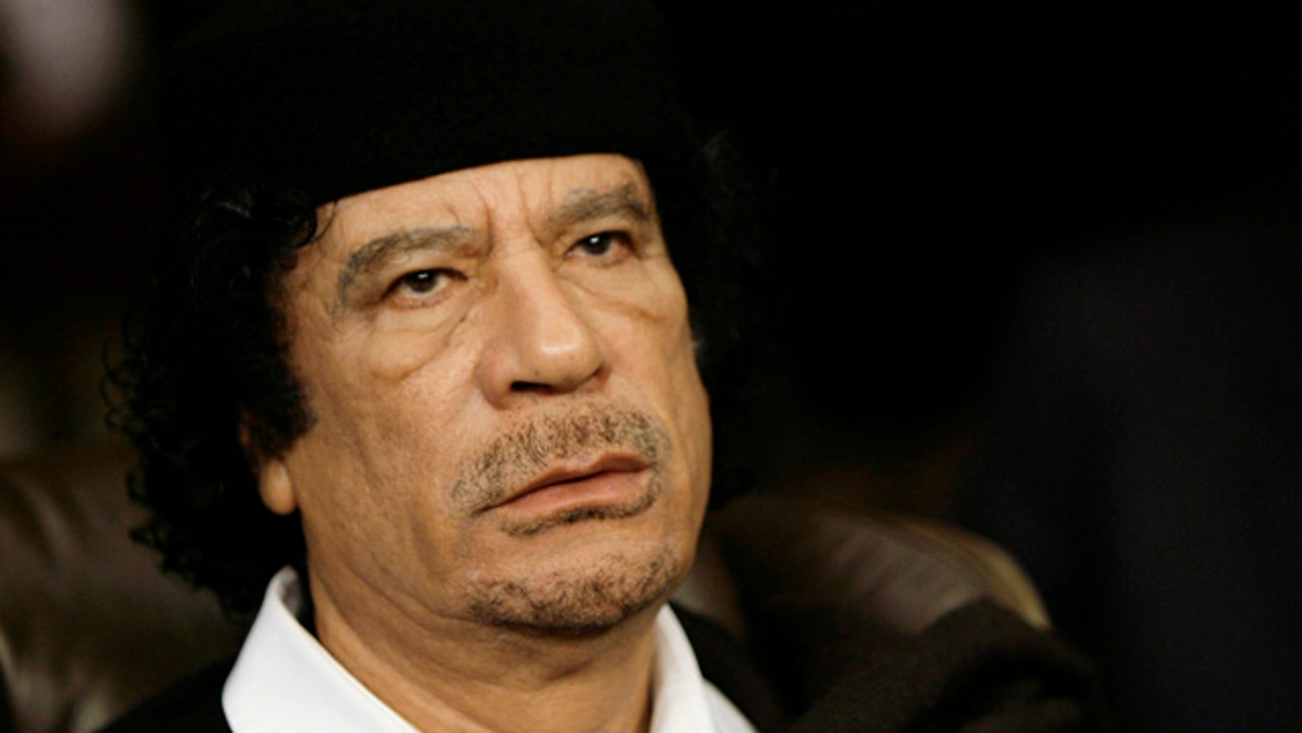 FILE 2008: Libyan leader Moammar al-Qaddafi attends the closing session of the annual summit of the Arab League in Damascus, Syria.