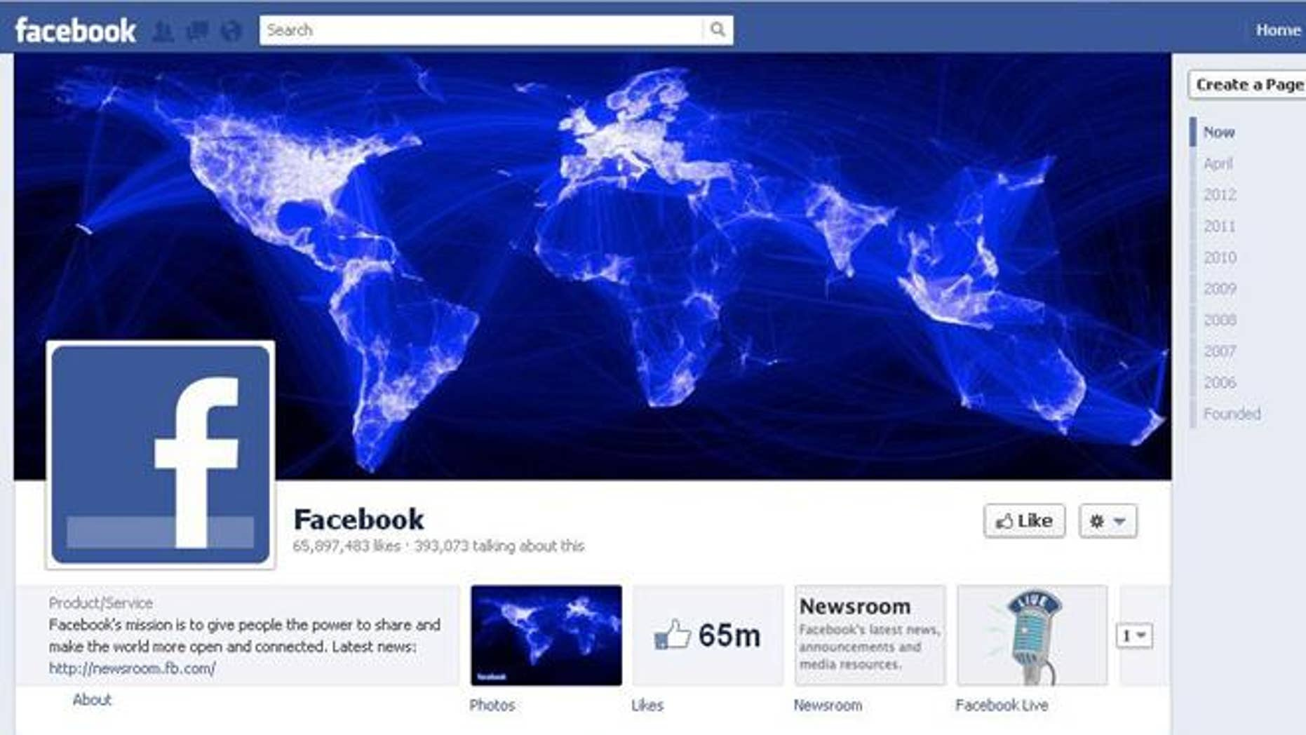 The Facebook page for Facebook, the world's largest social network.