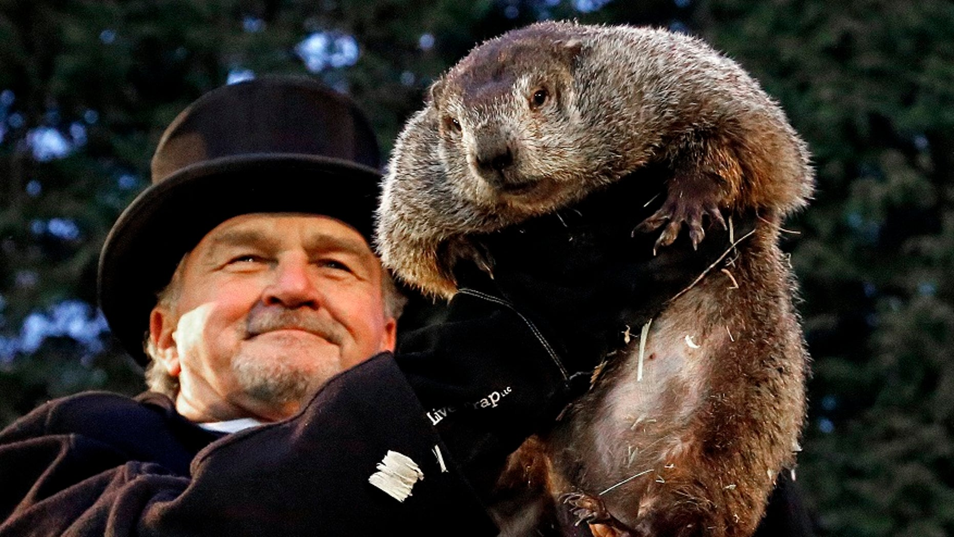 Punxsutawney Phil predicted six more weeks of winter Friday, Feb. 2, 2018.