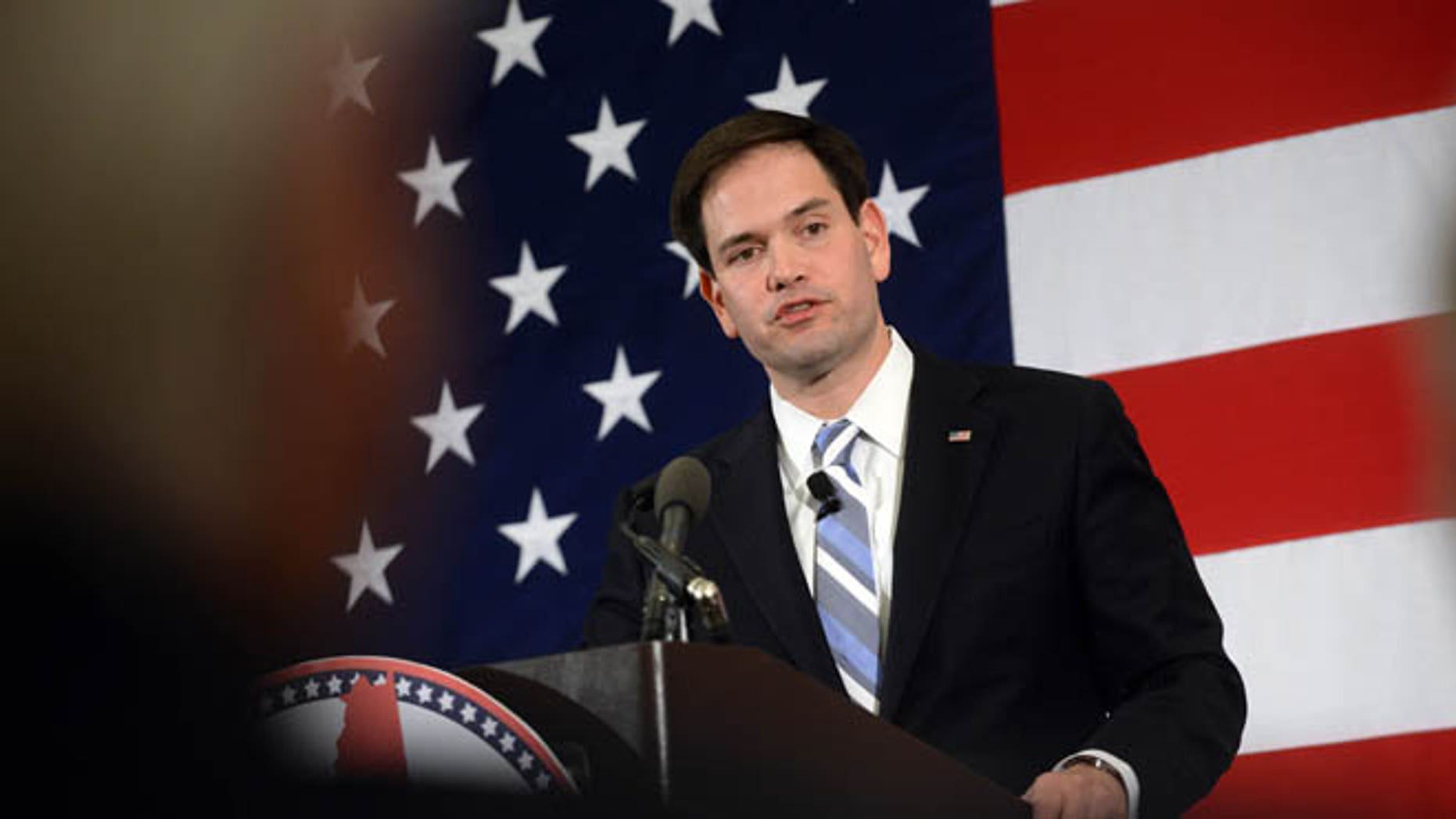NASHUA, NH - APRIL 17: Republican presidential candidate Sen. Marco Rubio (R-FL) speaks at the First in the Nation Republican Leadership Summit April 17, 2015 in Nashua, New Hampshire. The Summit  brought together local and national Republicans and was attended by all the Republicans candidates as well as those eyeing a run for the nomination. (Photo by Darren McCollester/Getty Images)