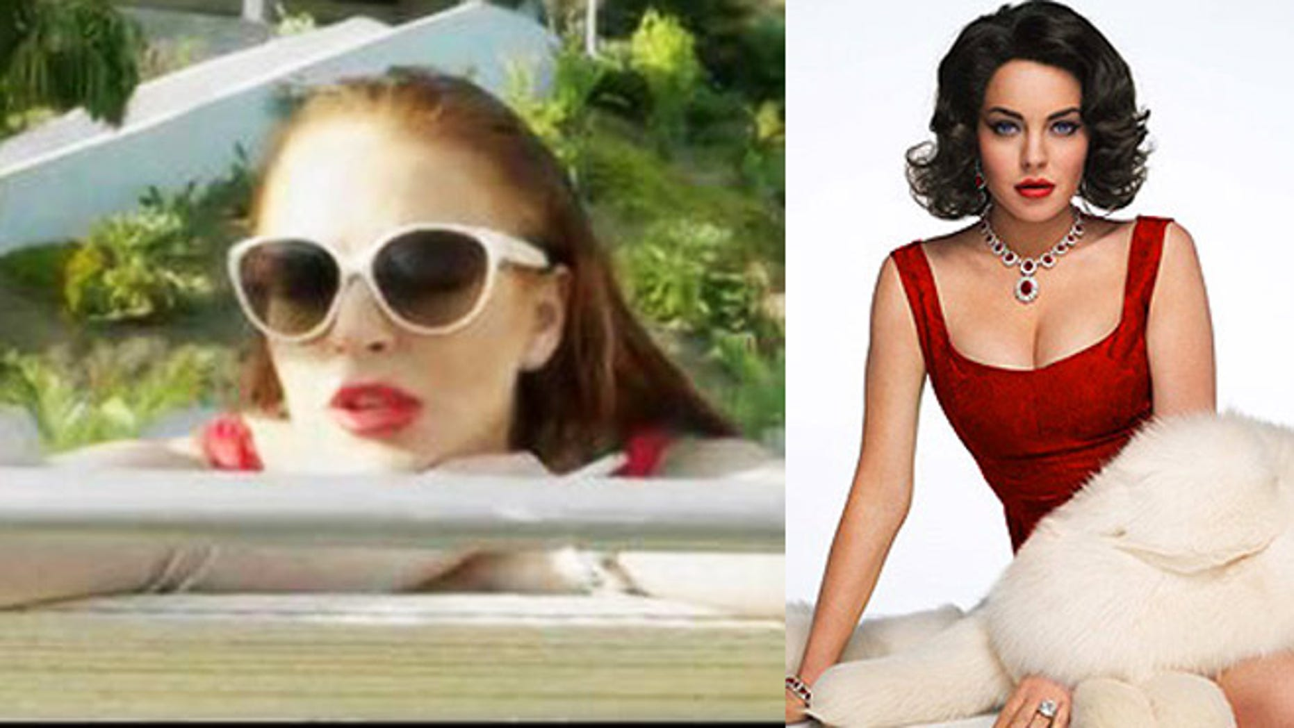 Lohan has two films coming out, the low-budget Canyons (left) and the Lifetime movie 'Liz & Dick' (right).