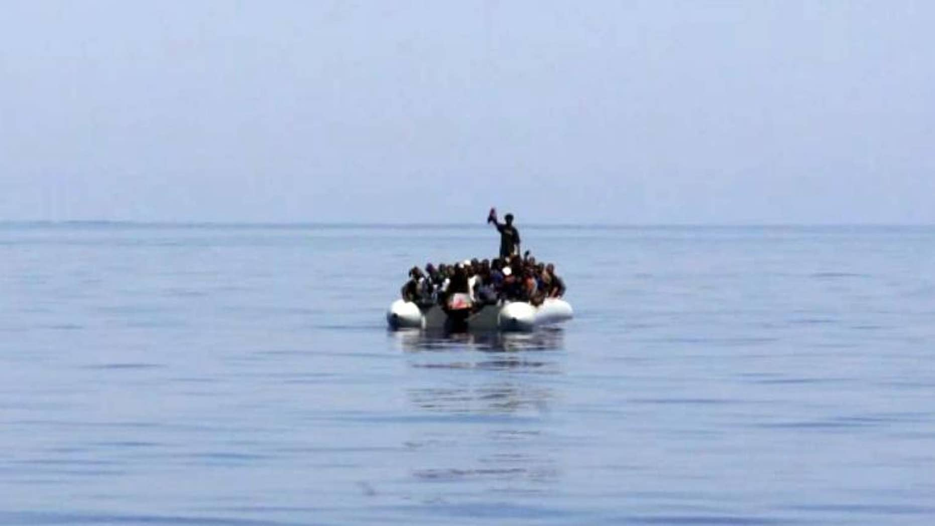 Immigrants that were rescued near the Mediterranean island of Lampedusa, on August 8, 2013