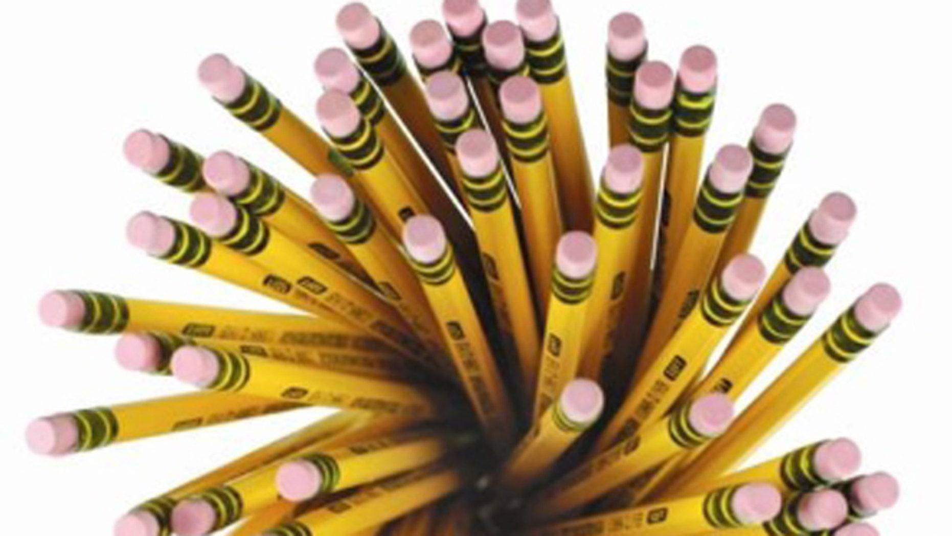 Yellow No. 2 pencils.