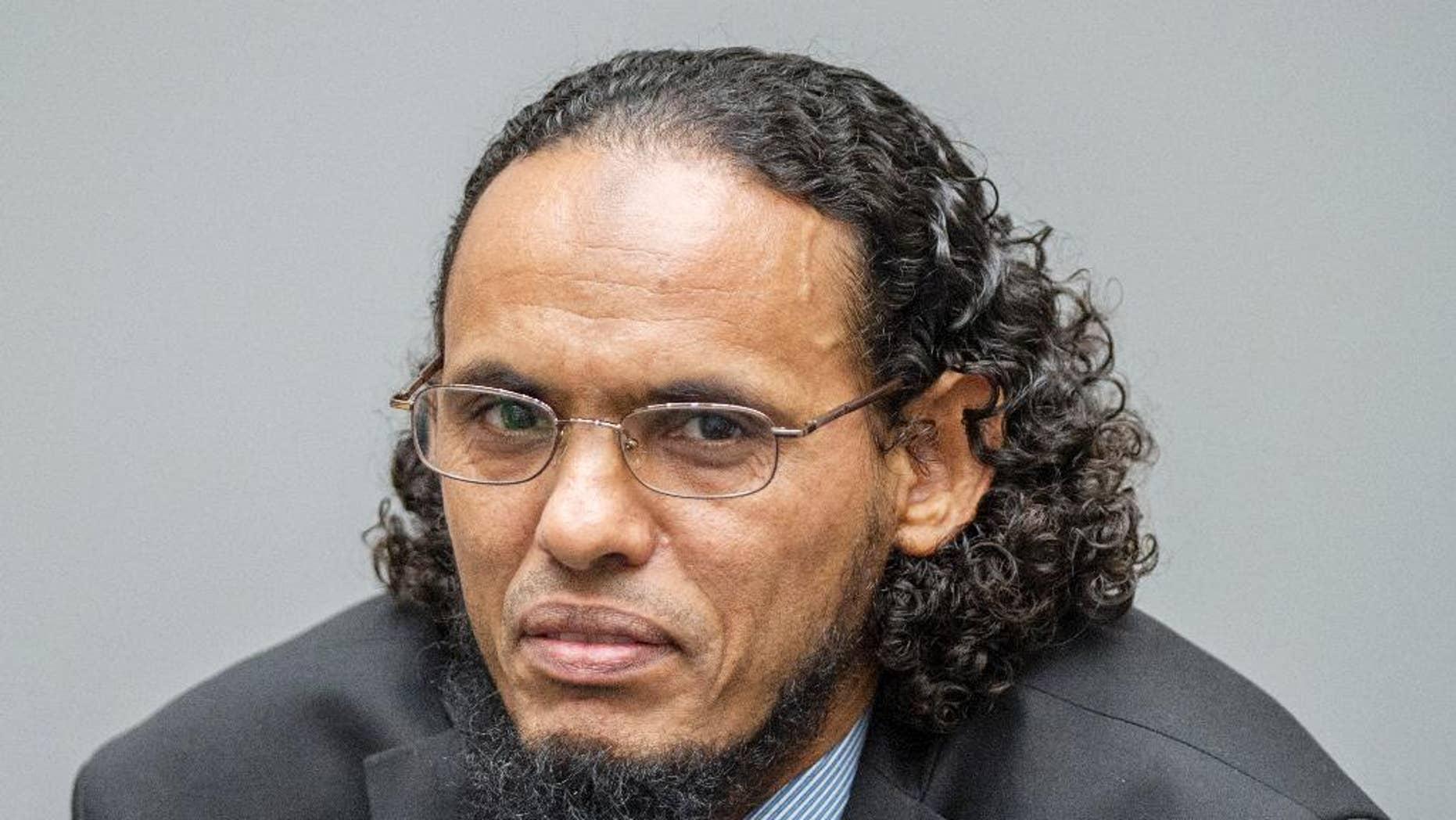 Ahmad Al Faqi Al Mahdi at the International Criminal Court in The Hague.