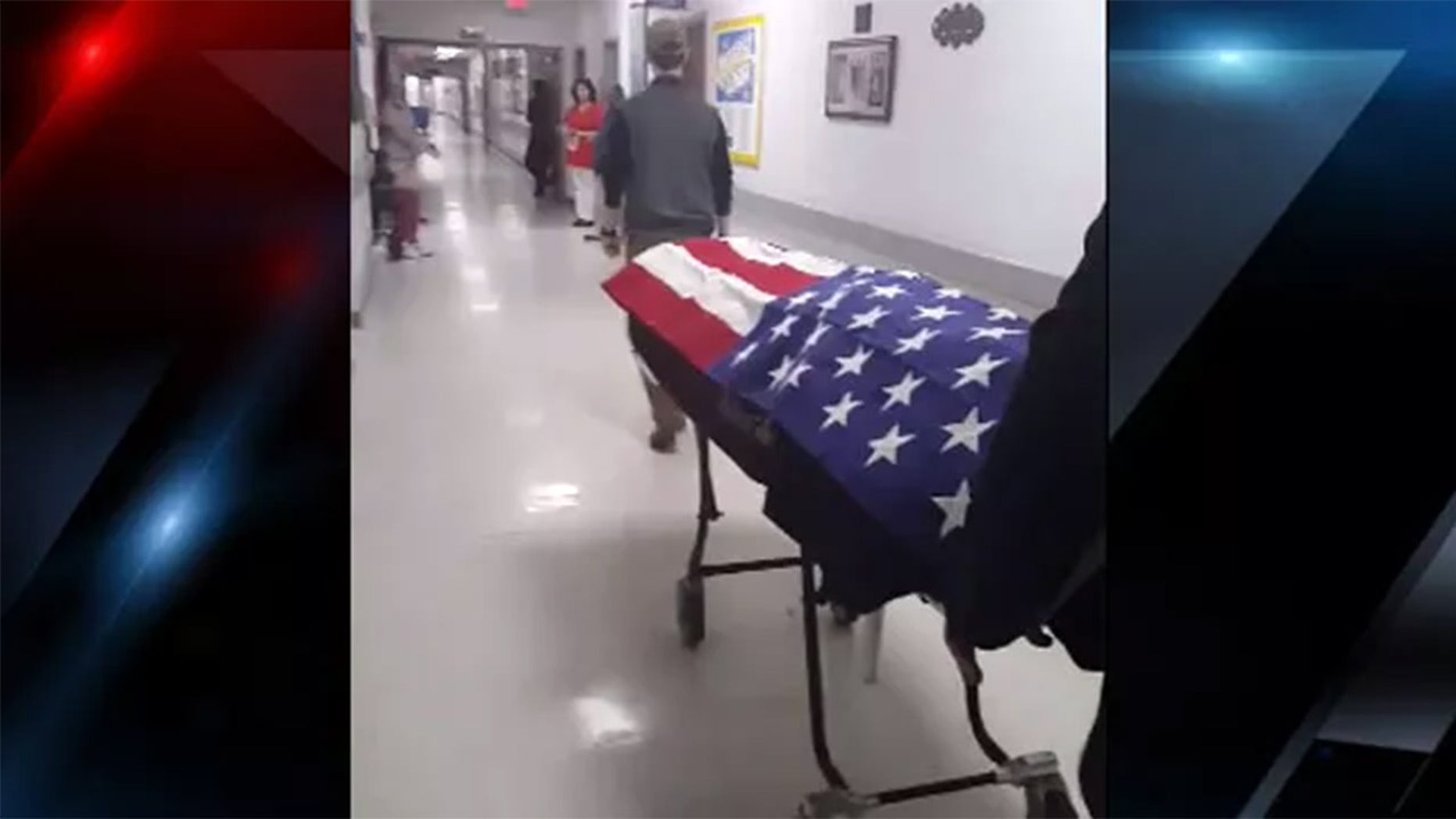 Video of a South Carolina nursing home honoring a veteran after his death has gone viral.