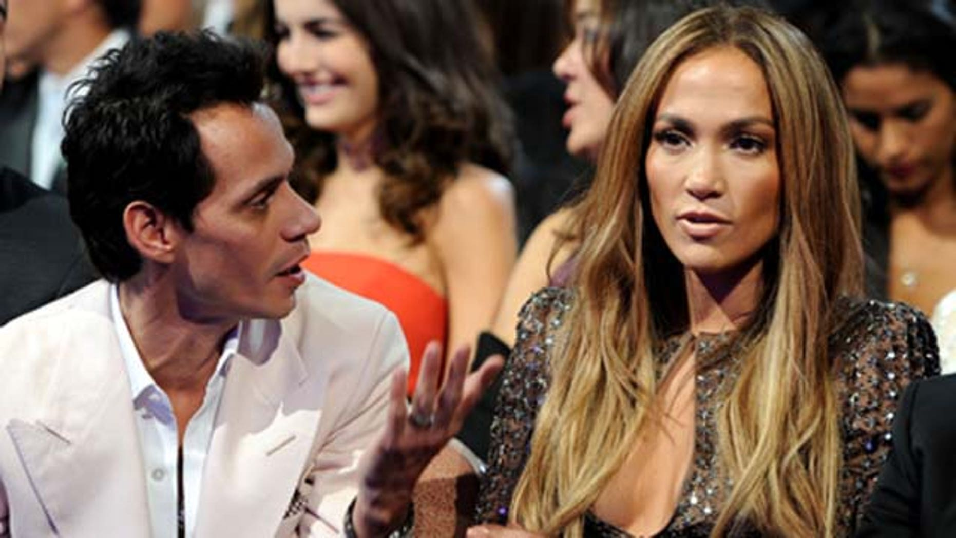 Nov. 11, 2010: Singers Marc Anthony and Jennifer Lopez in audience during the 11th annual Latin Grammy Awards at the Mandalay Bay Events Center in Las Vegas, Nev.