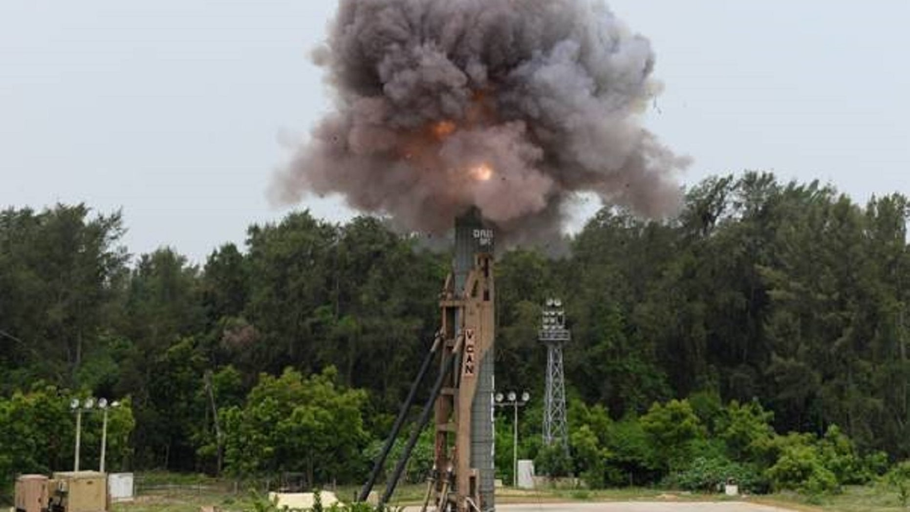 "India ""successfully flight tested"" its Agni-5 missile on Sunday morning, according to the defense minister's office."