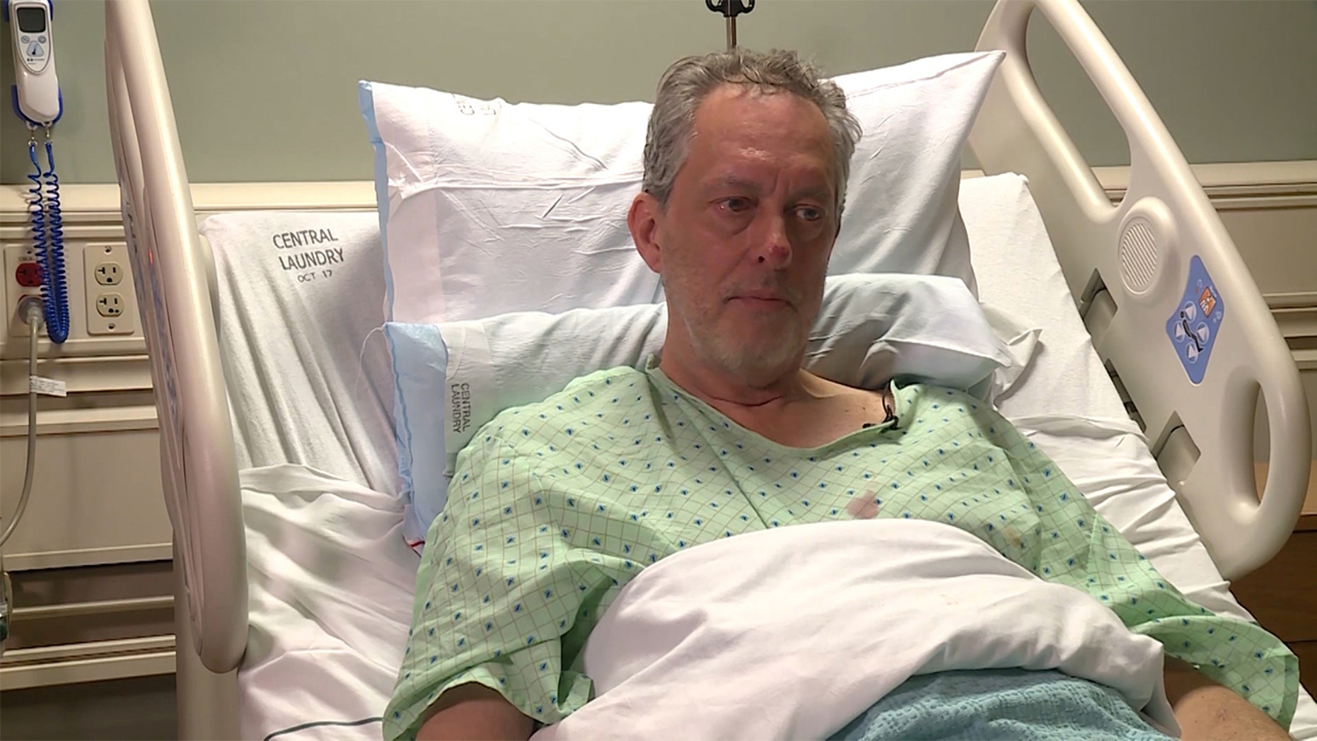 David Hales reflects on his ordeal from a hospital bed in Heber City, Utah. Hales, a snowmobiler who spent four nights alone in freezing temperatures in the Utah wilderness without food or water said he didn't think he would survive. Hales said that he trekked about seven miles on his hands and knees before he was rescued.