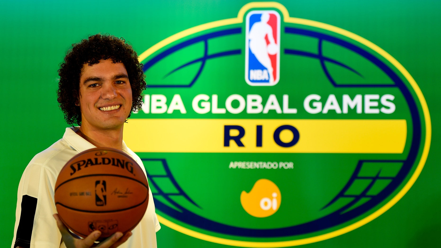 RIO DE JANEIRO, BRAZIL - AUGUST 06: Anderson Varejao attends a press conference to announce the NBA Global Games Rio 2014 Miami Heat v Cleveland Cavaliers on August 6, 2014 in Rio de Janeiro, Brazil.  (Photo by Buda Mendes/Getty Images)