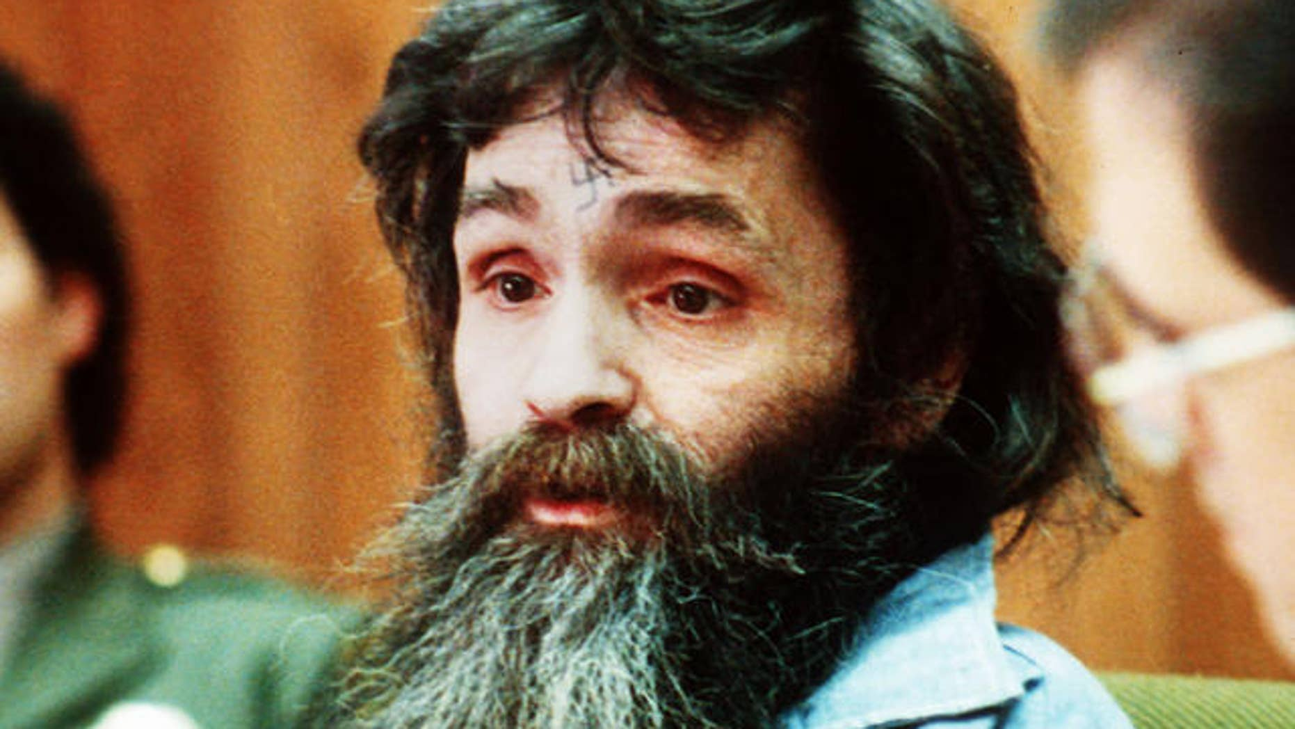 **FILE** Charles Manson was denied parole Wednesday May 23, 2007, the 11th time since 1978 that the cult leader was ordered to continue serving life sentences for a murderous rampage in 1969. (AP-Photo)