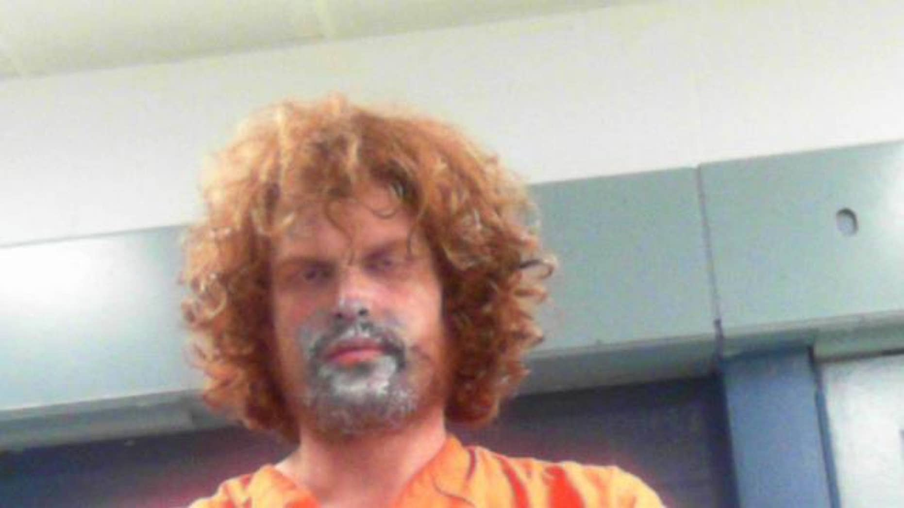 Glenn Casdorph, 30, allegedly huffed spray paint and then beat his mother with a spatula on Thursday, according to local news reports.