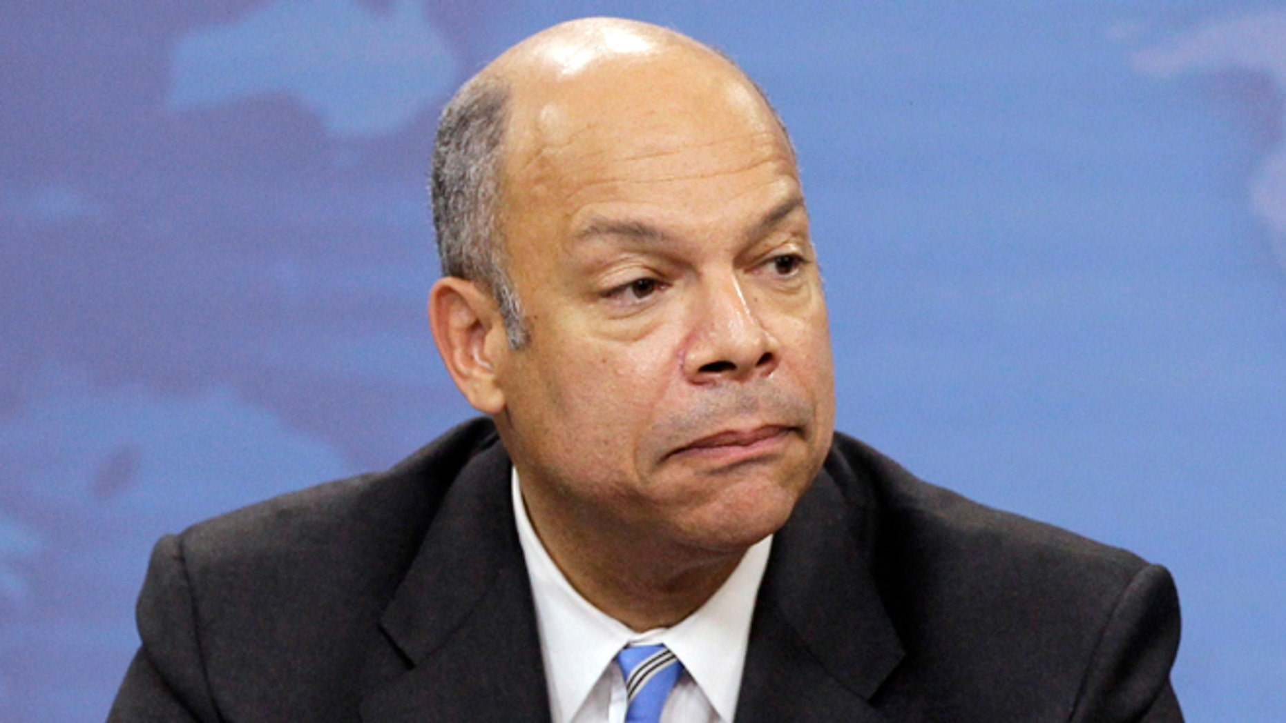 FILE: Nov. 30, 2010: Jeh Johnson speaks during a news conference at the Pentagon in Washington, D.C.