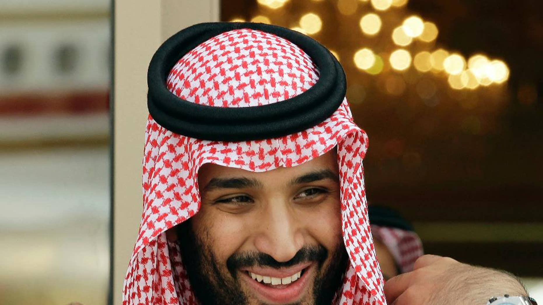 FILE - In this May 14, 2012 file photo, Prince Mohammed bin Salman waits for Gulf Arab leaders ahead of the opening of Gulf Cooperation Council summit, in Riyadh, Saudi Arabia. Saudi Arabia's Deputy Crown Prince Mohammed bin Salman sat down for a rare televised interview Tuesday, May 2, 2017,  evening with Saudi TV, defending his wide-reaching plans for overhauling the country's economy and offering insights into how he views the kingdom's war in Yemen and its tensions with rival Iran. (AP Photo/Hassan Ammar, File)