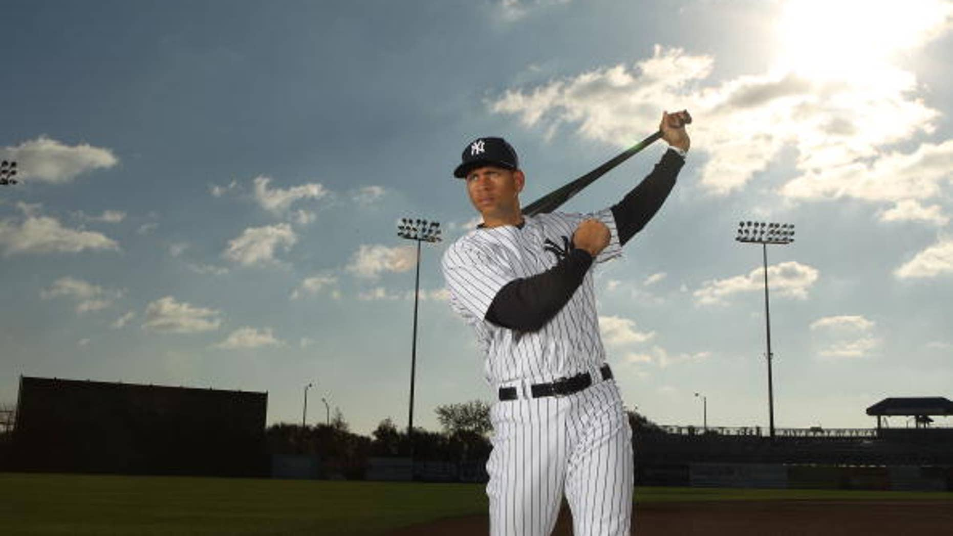 Feb. 25, 2010:  Alex Rodríguez  #13 of the New York Yankees poses for a photo during Spring Training Media Photo Day at George M. Steinbrenner Field in Tampa, Fla.