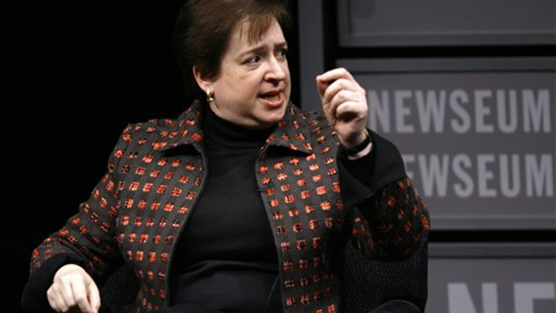 Jan. 28: U.S. Solicitor General Elena Kagan speaks during a panel about Women Advocates of the Supreme Court Bar at the Newseum in Washington.