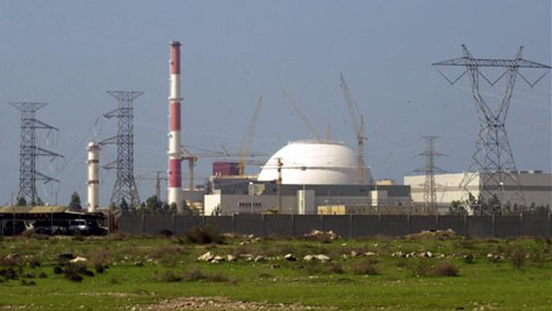 FILE - In this Feb. 27, 2005 file photo,  The reactor building of Iran's nuclear power plant is seen, at Bushehr, Iran, 750 miles south of the capital Tehran.
