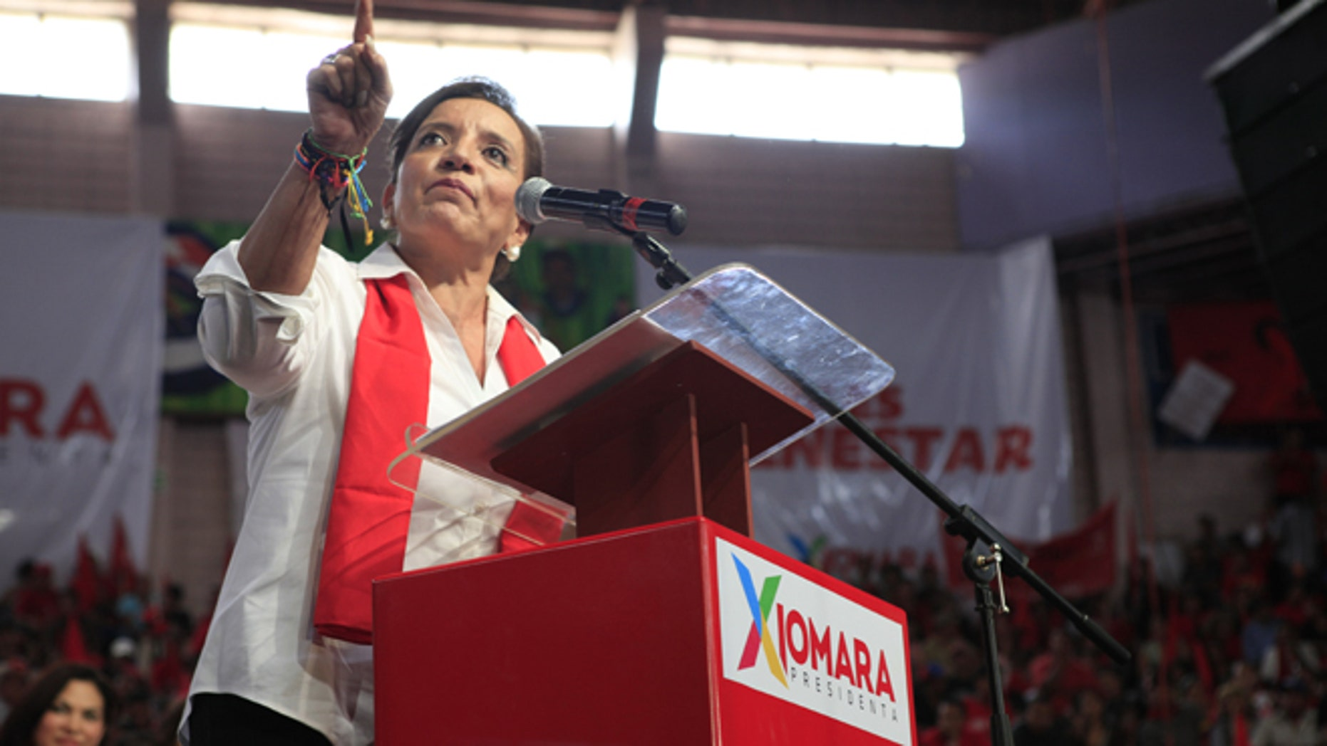 Presidential candidate Xiomara Castro in Tegucigalpa, Honduras, Sunday, June 16, 2013.