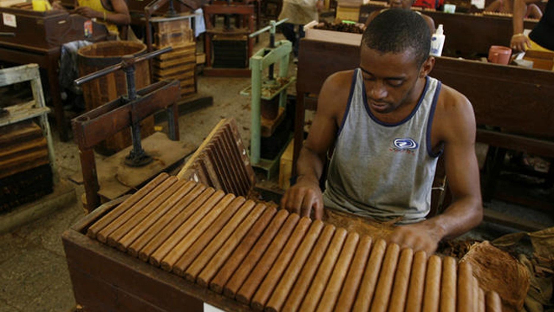 Partagas Cigar Factory in Havana, Cuba.