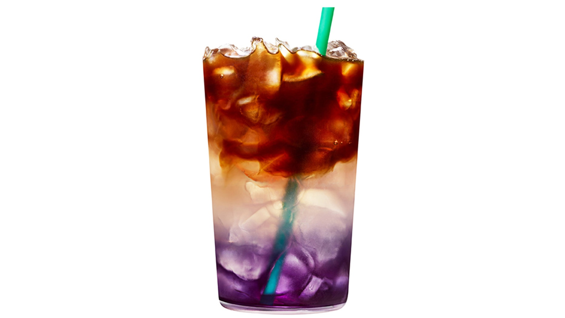The tricolored drink is avaliable for a limited time only.