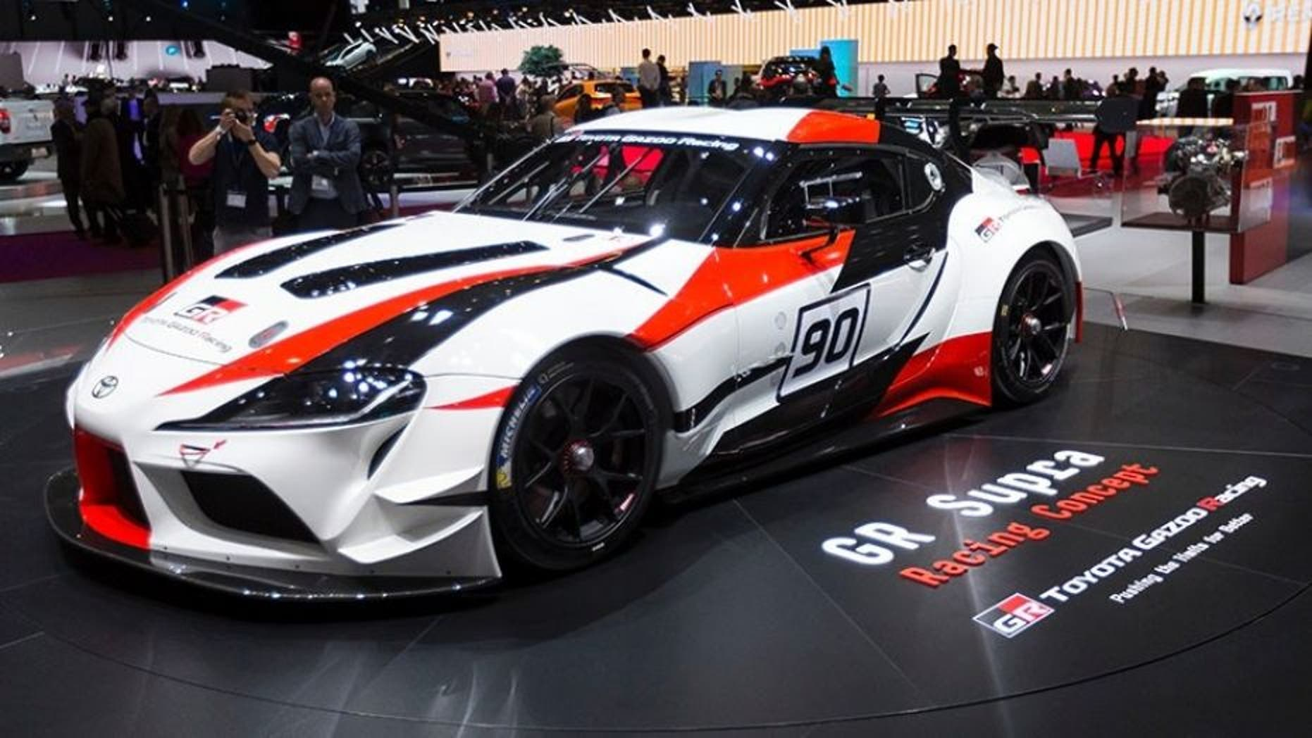 The GR Supra is a concept for a road racing version of the upcoming sports car.