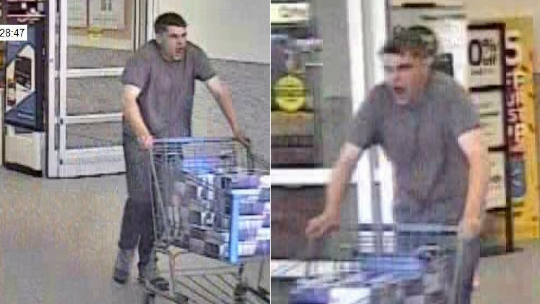 The yawning thief was spotted stealing Red Bull worth nearly $250.