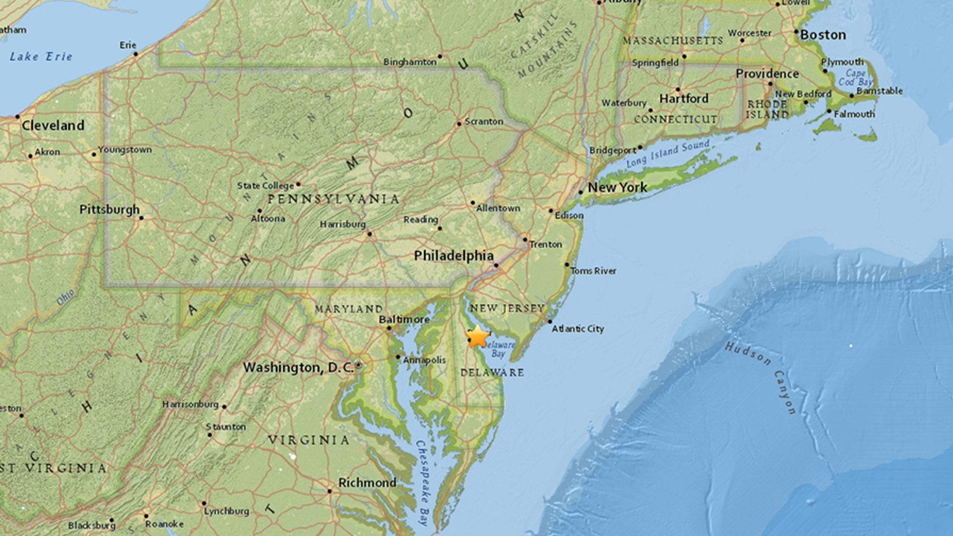 A 4.4 magnitude earthquake struck the east coast of the U.S. on Thursday.