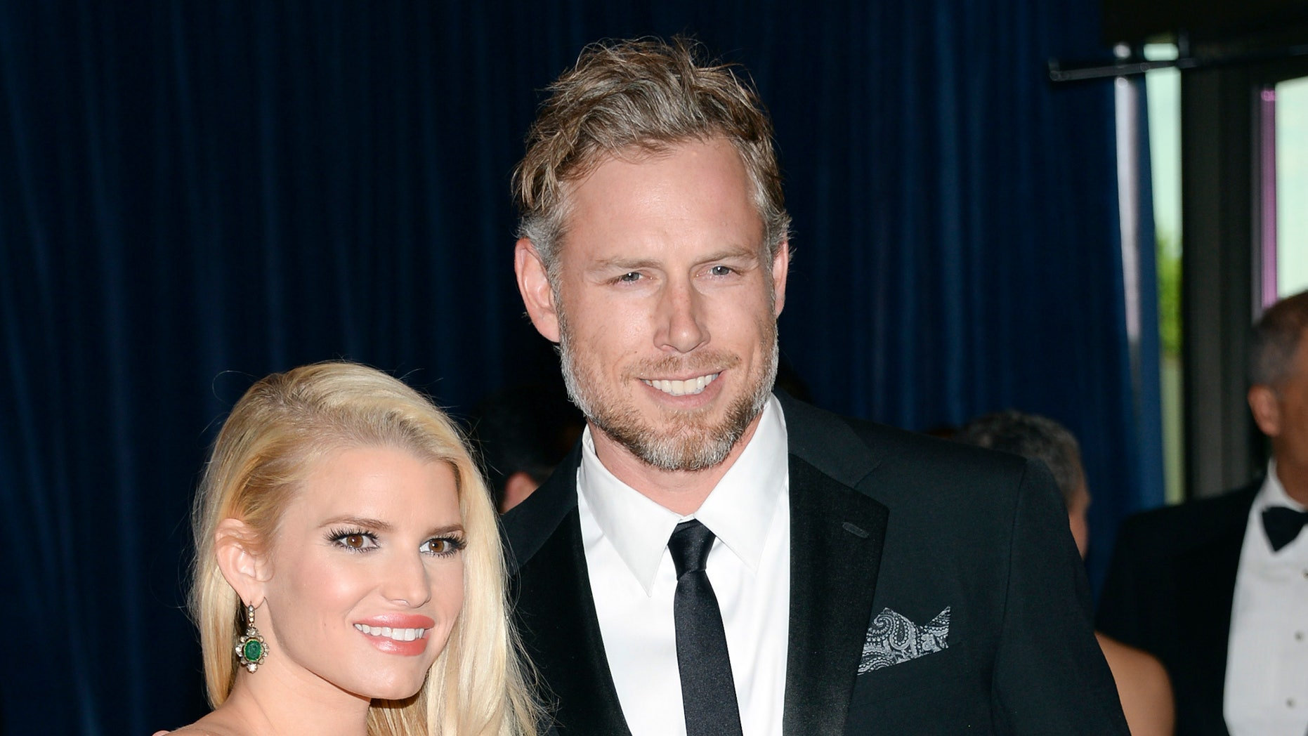 May 3, 2014. Jessica Simpson and Eric Johnson attend the White House Correspondents Association Dinner at the Washington Hilton Hotel in Washington.